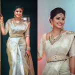 The Most Adorable Way To Wear a White Silk Saree