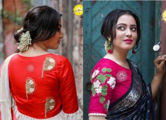 designer blouses 2018