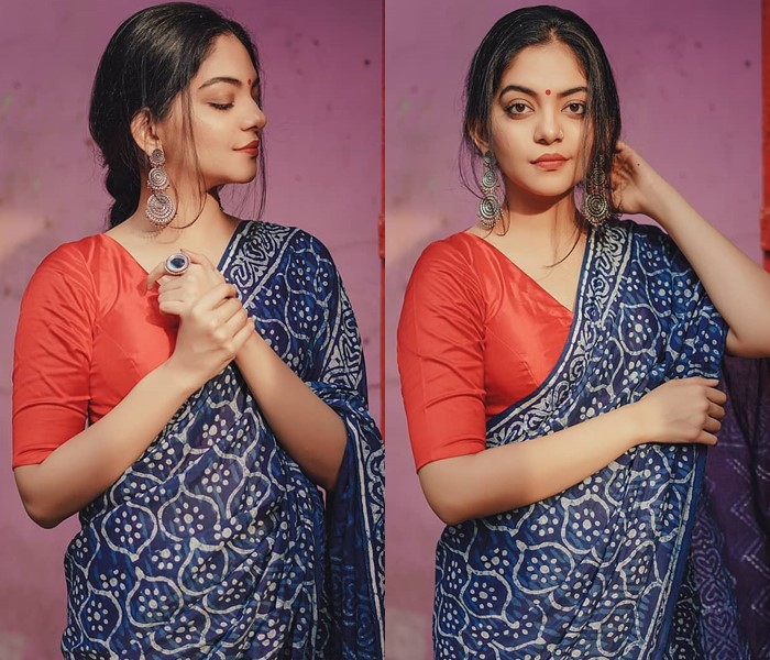 how-to-wear-indigo-saree -featured-image