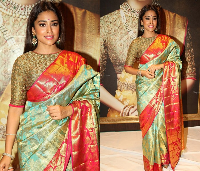 silk-sarees-with-high-neck-blouse-designs (4)