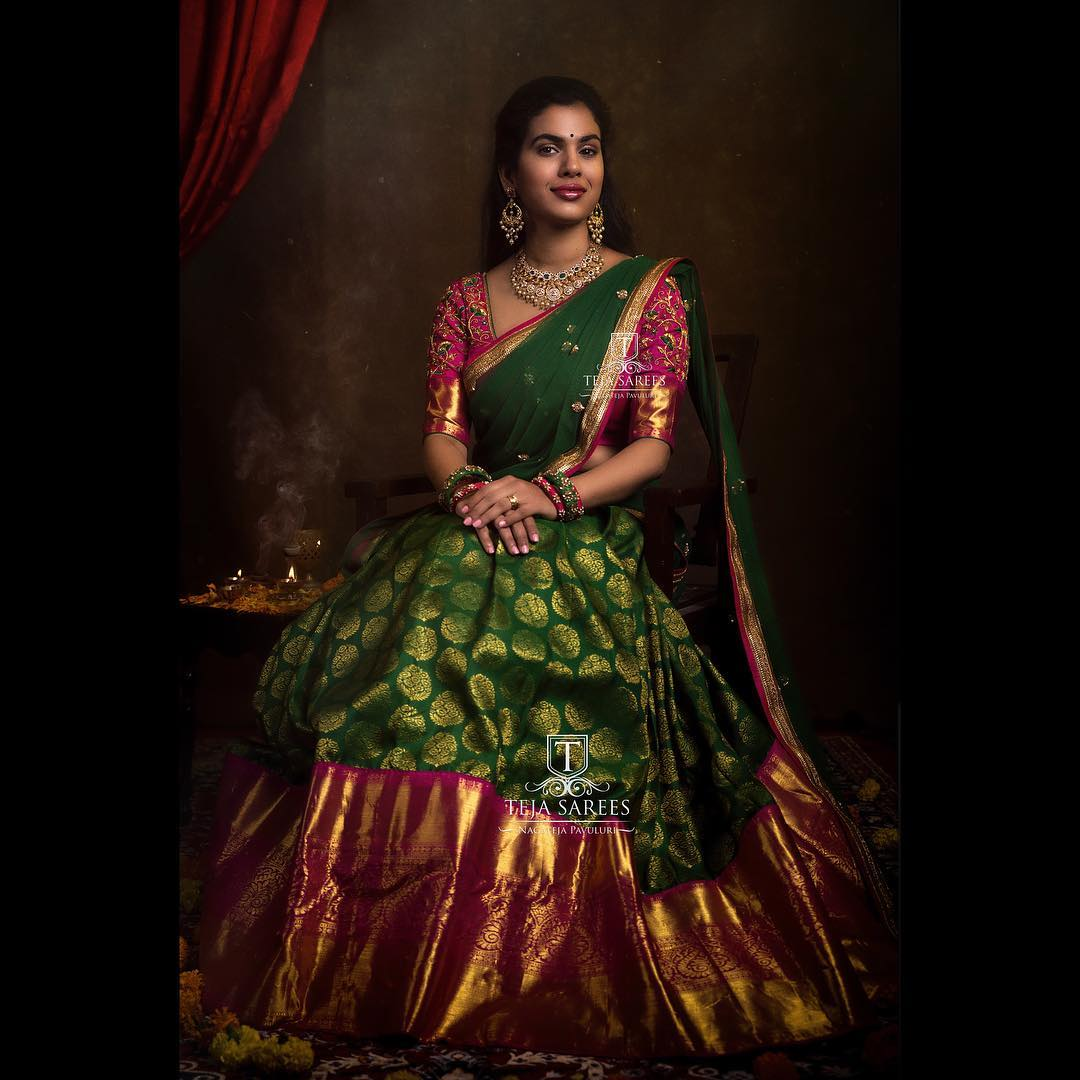 half-saree-designs-2019 (1)
