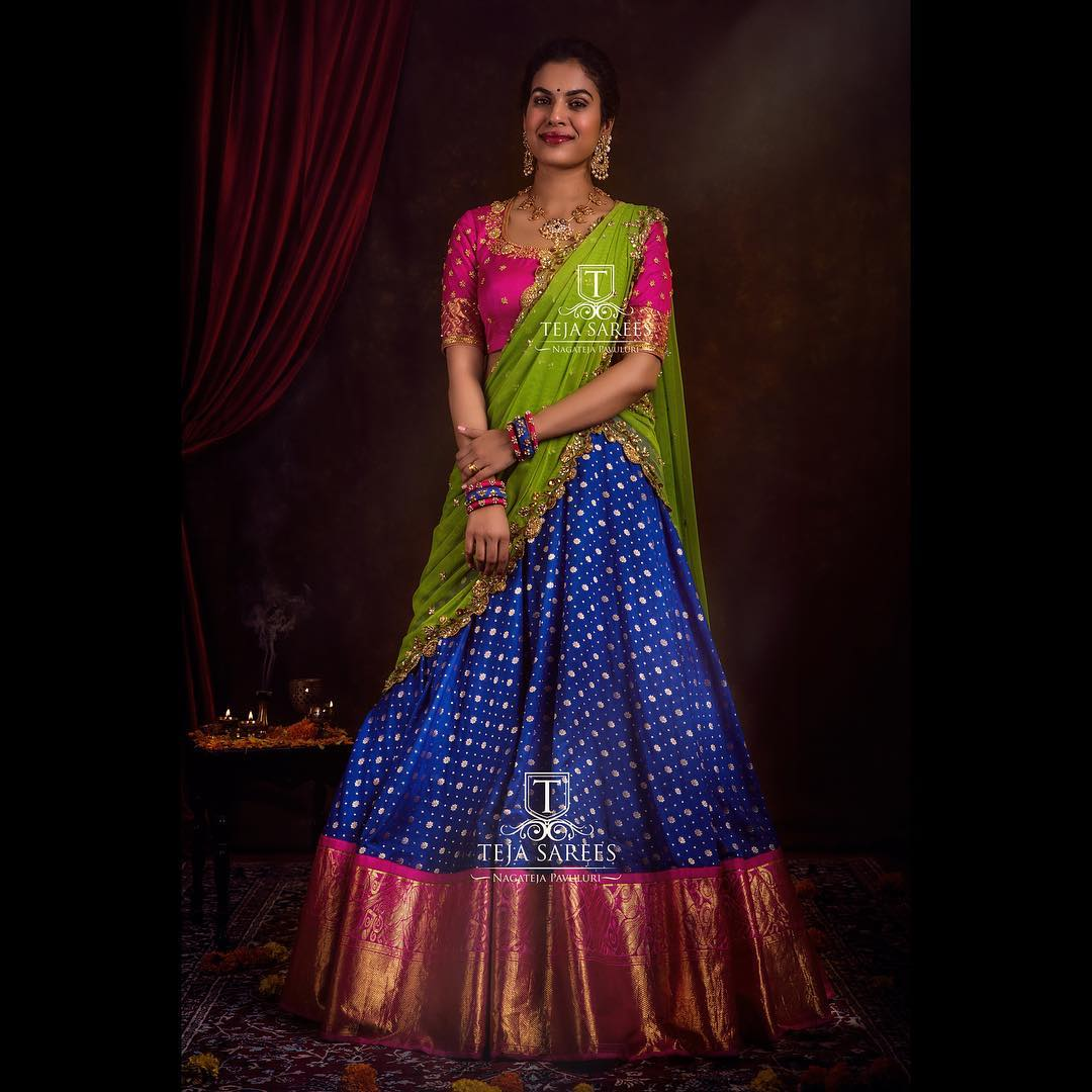 half-saree-designs-2019 (12)