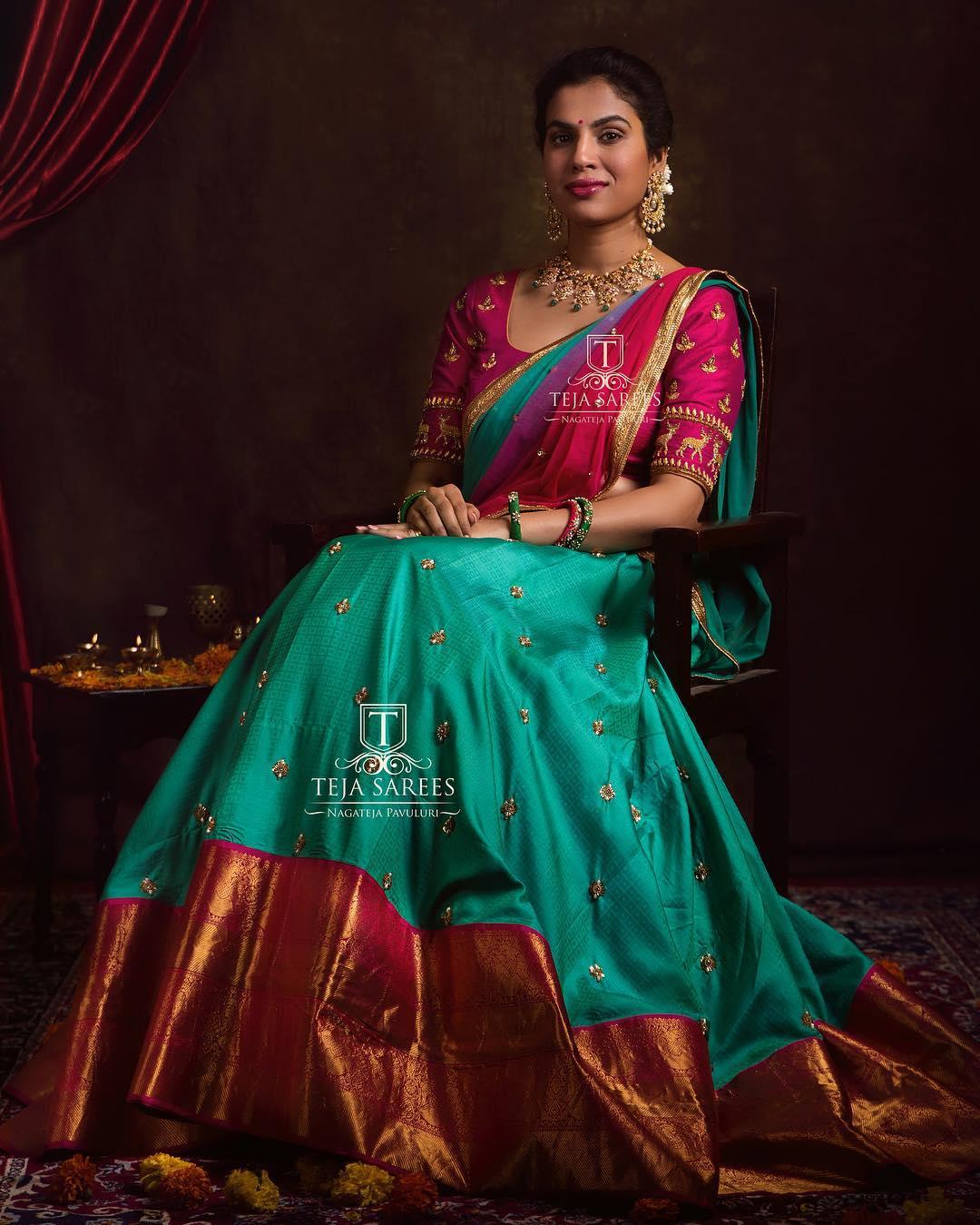 half-saree-designs-2019 (4)