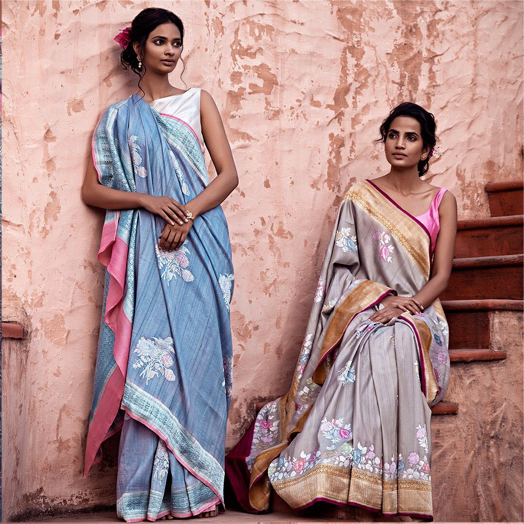 fancy-saree-and-blouse-designs (12)