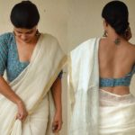 Instagrammers Style White Sarees With Chic Blouses!