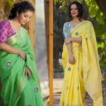 The Most Head Turning Saree & Contrasting Blouse