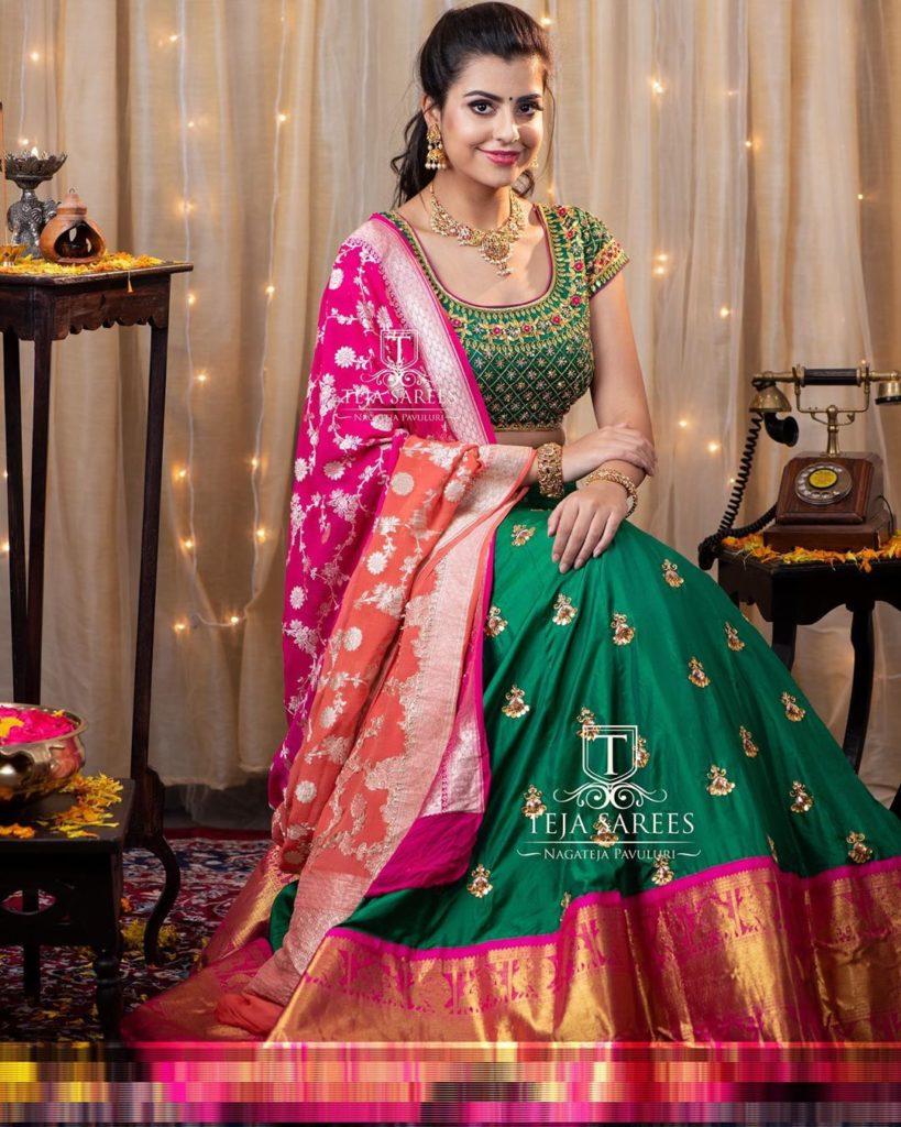 half-sarees-for-wedding-17