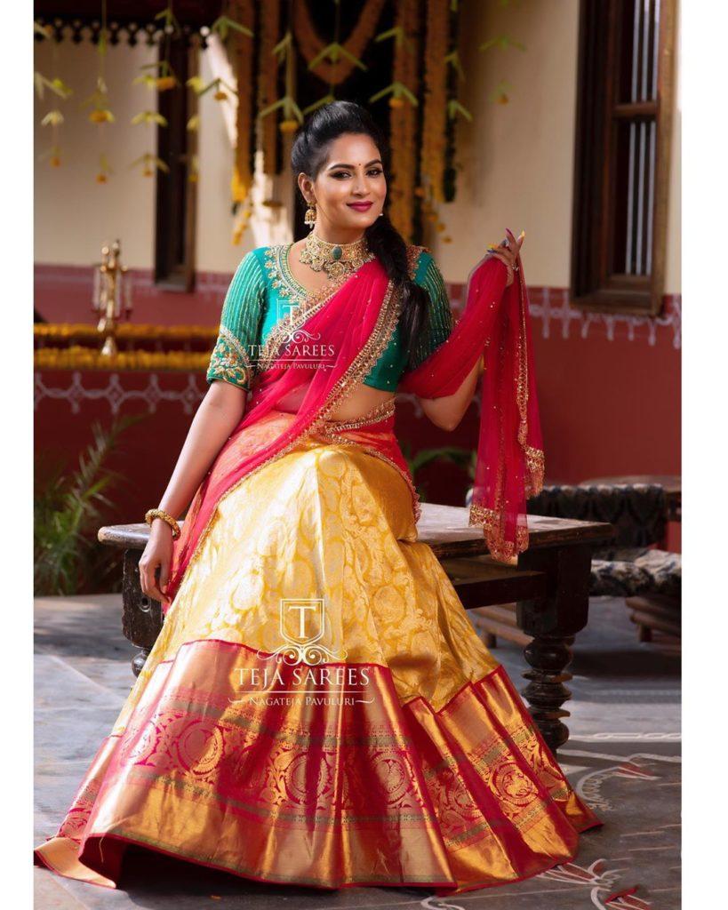 half-sarees-for-wedding-10