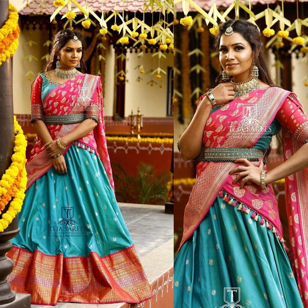 half-sarees-for-wedding-13