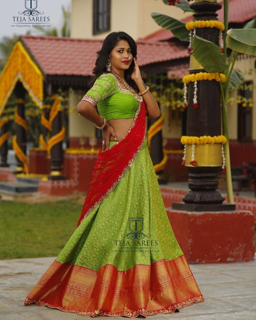 half-sarees-for-wedding-14