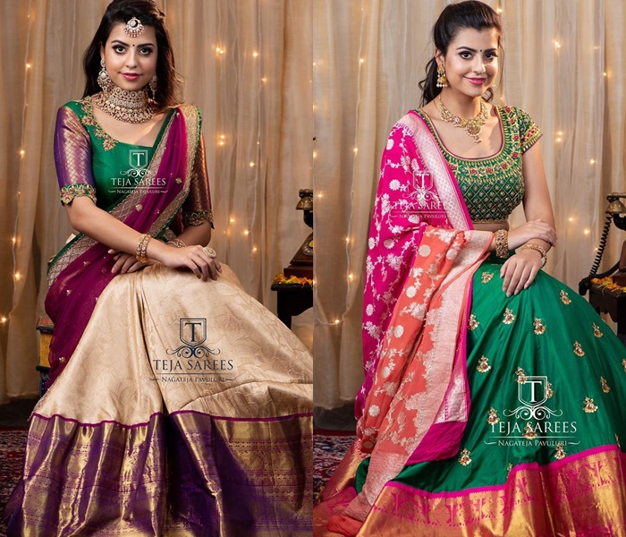half-sarees-for-wedding