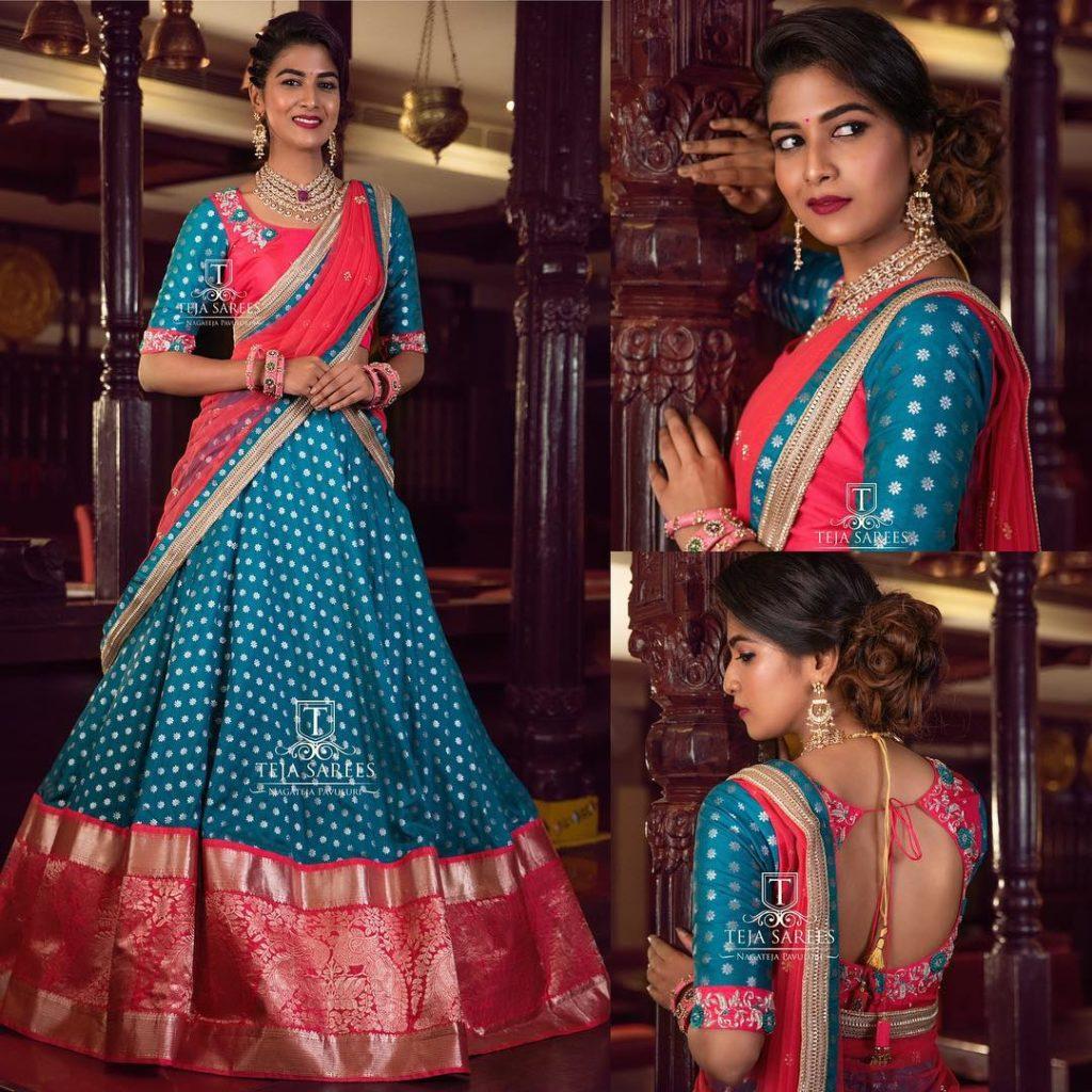 half-sarees-for-wedding-2