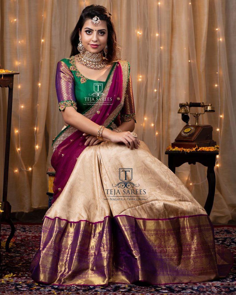 half-sarees-for-wedding-4