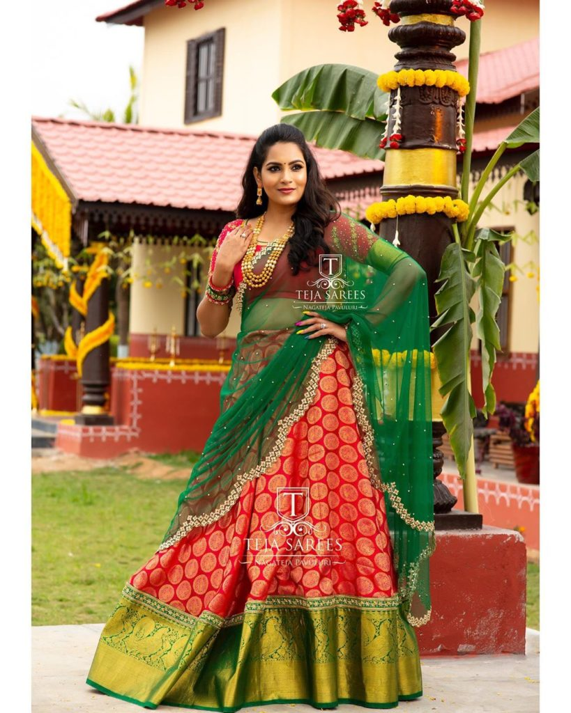 half-sarees-for-wedding-9