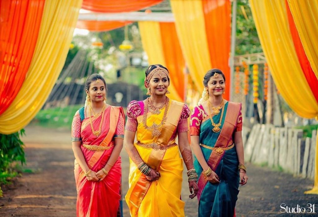 south-indian-bridesmaid-sarees-1