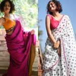 How To Rock- Simple Sarees With Contrast Blouse Look