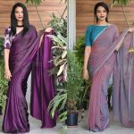 How To Carry Plain Saree With Style!!