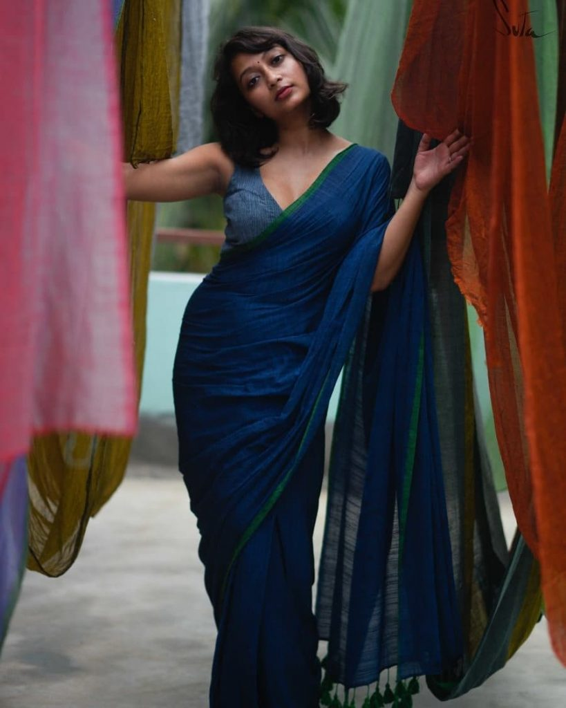 Plain Sarees Styling Inspiration