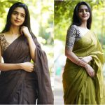Take Aesthetic Plain Sarees Styling Inspiration From Here!!